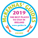 Greenmount House B&B awarded 100 Best Places to Stay in Ireland from McKennas' Guides 2018