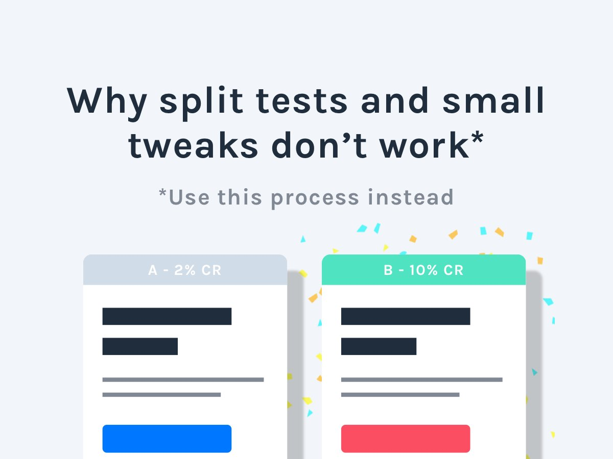 split tests and tweaks SaaS websites
