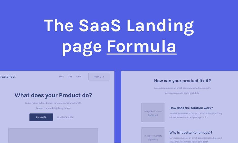 The SaaS Landing page Formula