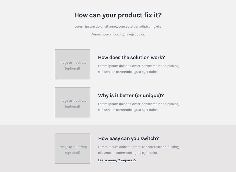 SaaS Landing page formula - How it works/Solution