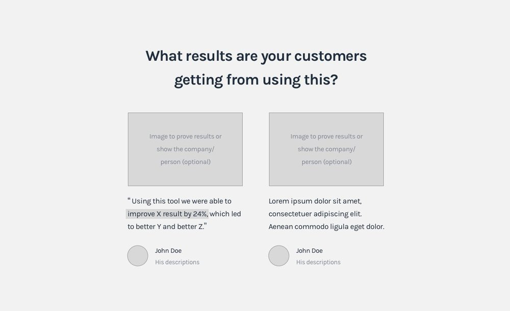 SaaS Landing page formula - More social proof