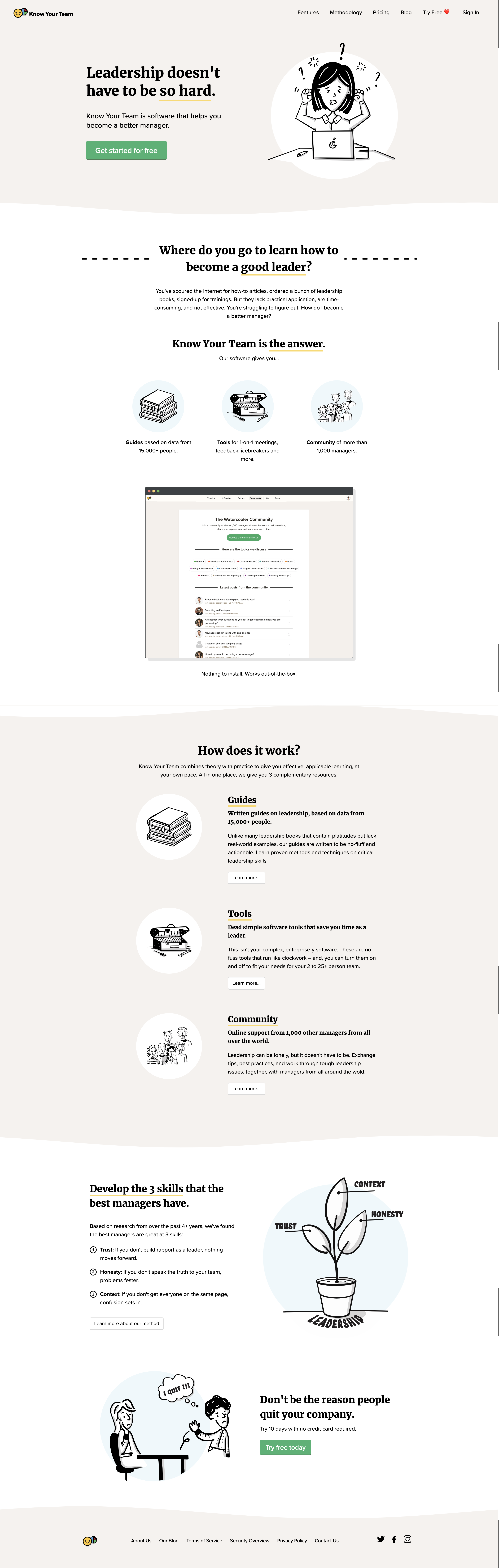 Know Your Team - SaaS Landing Page Inspiration + Breakdown