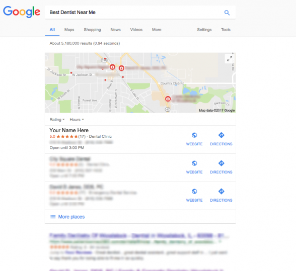 Our dentists rank number one on google