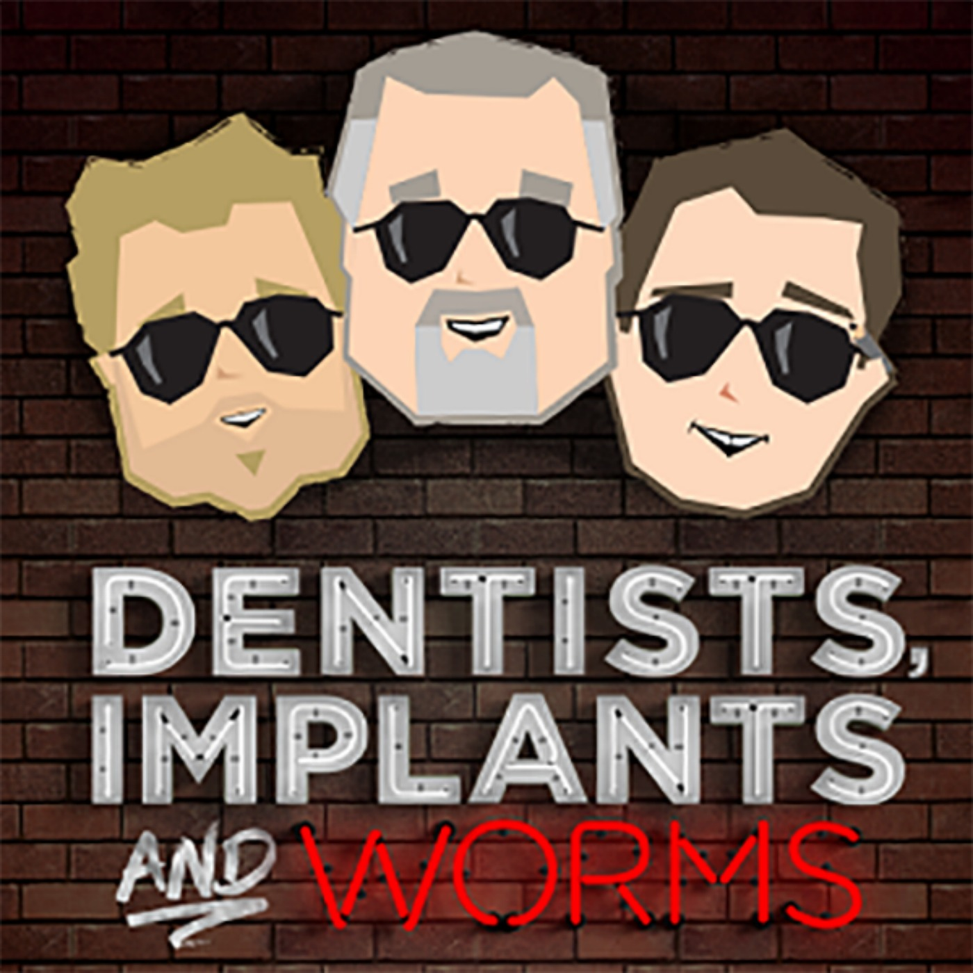 dentists implants and worms logo