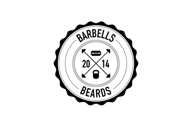 Barbells and Beards logo