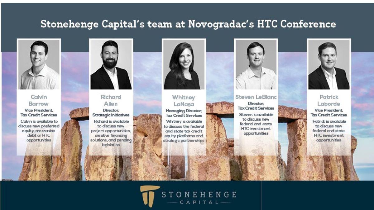 Stonehenge Capital's Historic Tax Credit team