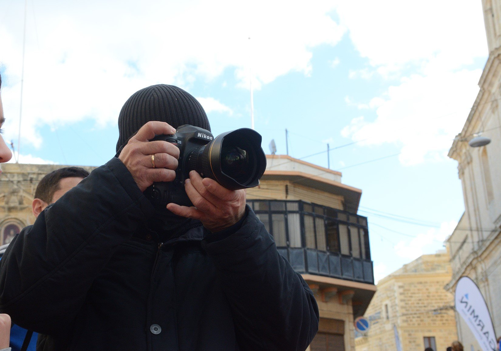 Anaca's Photographer shooting an event in Nadur, Gozo