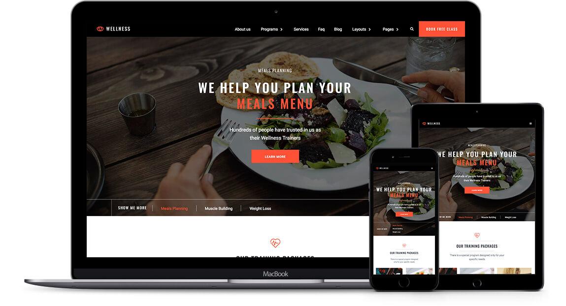 Wellness Business Html5 Responsive Website Template