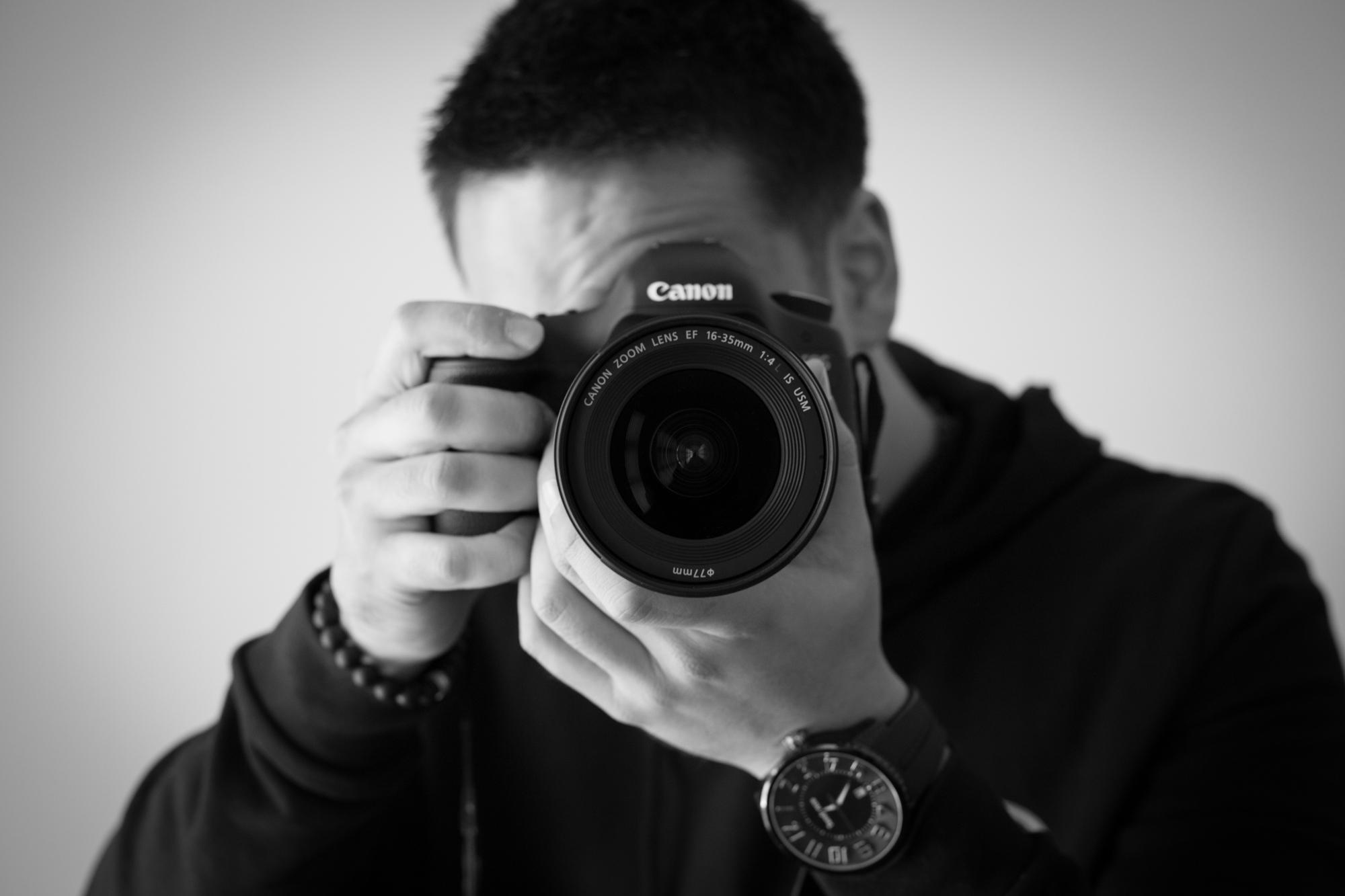 Justin taking photo