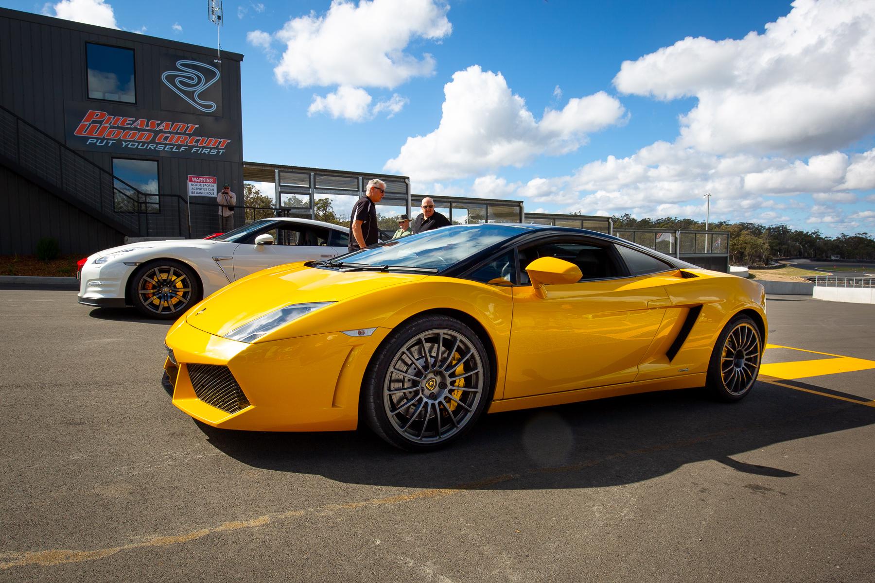 Trying not to crash a Lamborghini Gallardo
