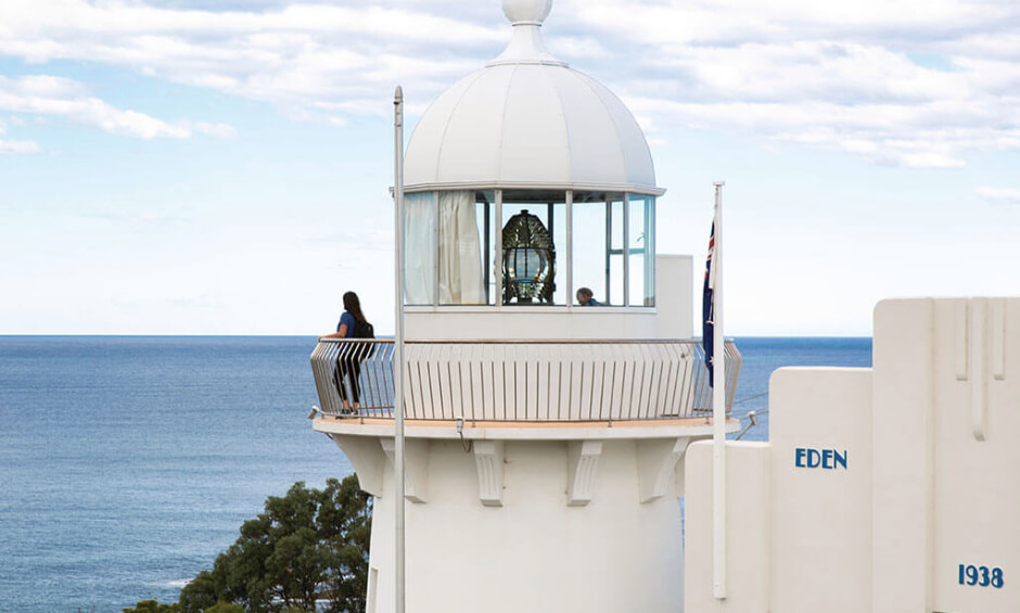 Eden Lighthouse visited on our school holiday camp from Melbourne