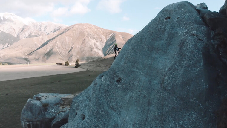 Rock climbing on our New Zealand South Island Discovery