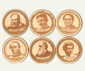 Heroes of Science Coasters
