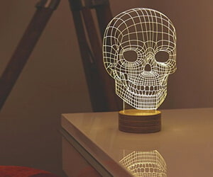MoMA Skull Lamp