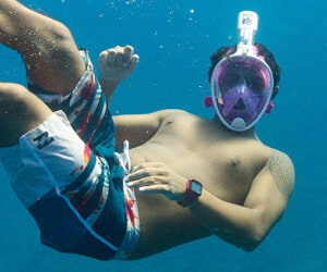 Geek Gift View Snorkel Mask Full Face Free Breathing Design Snorkeling with Anti-fog