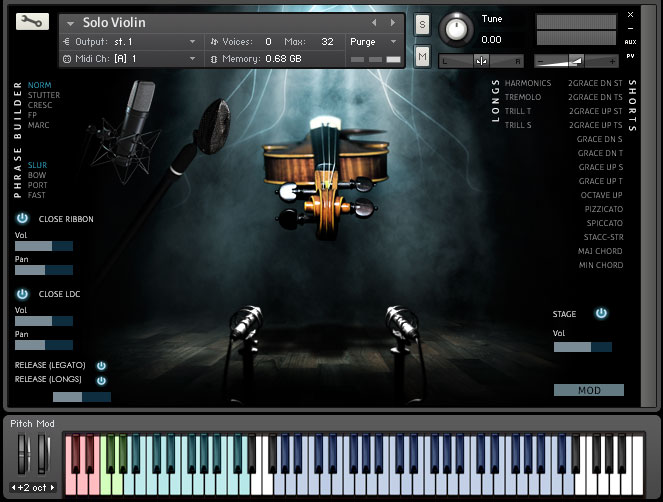 Kontakt VST AU AAX GUI Screenshot of interface