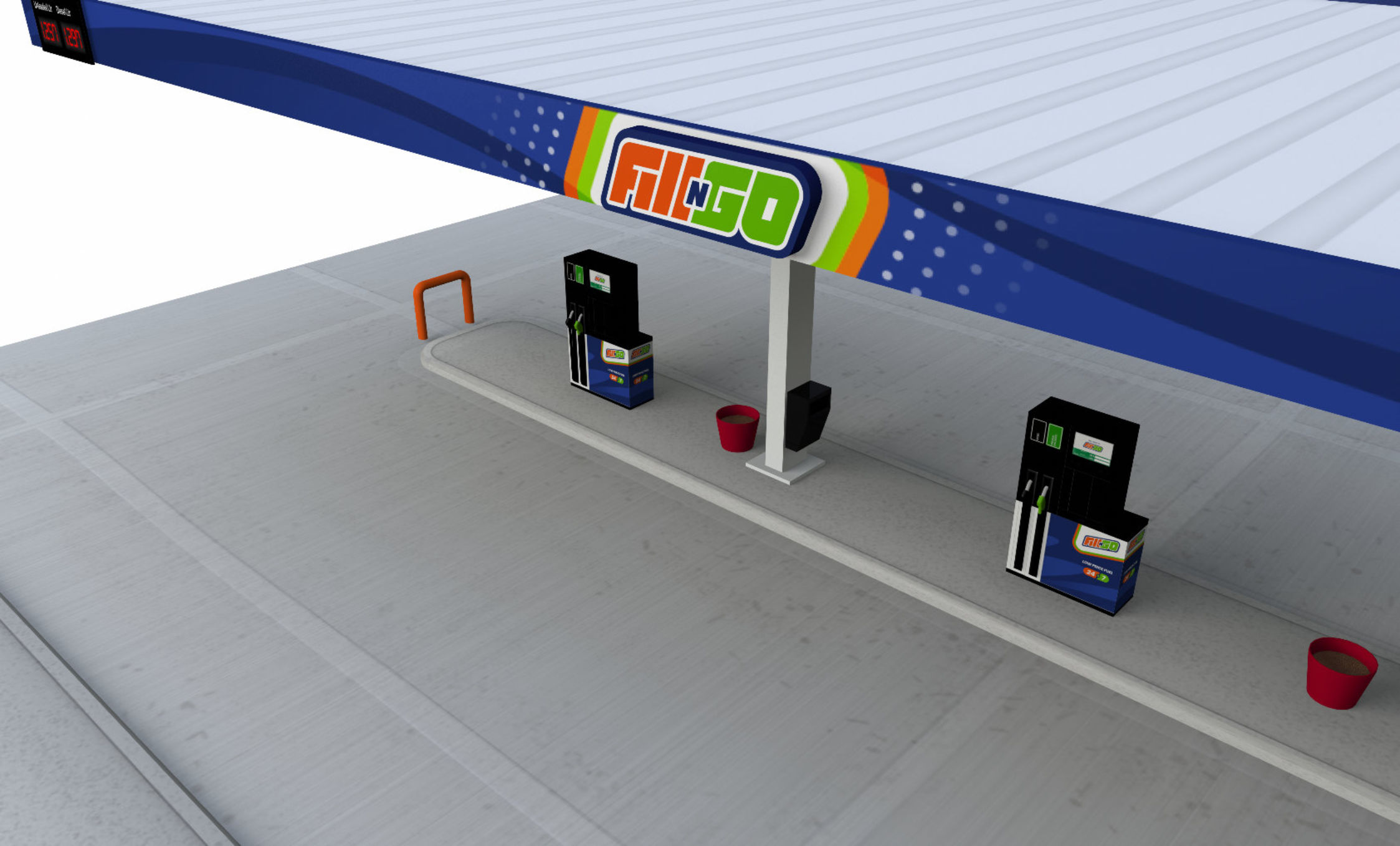 Fill N Go unmanned service station concept canopy