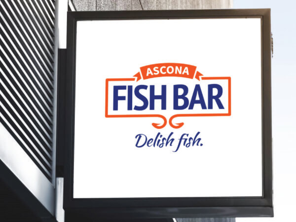 Ascona Fish Bar sign