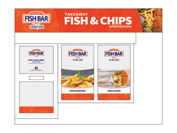 Ascona Fish Bar retail outlet side elevation