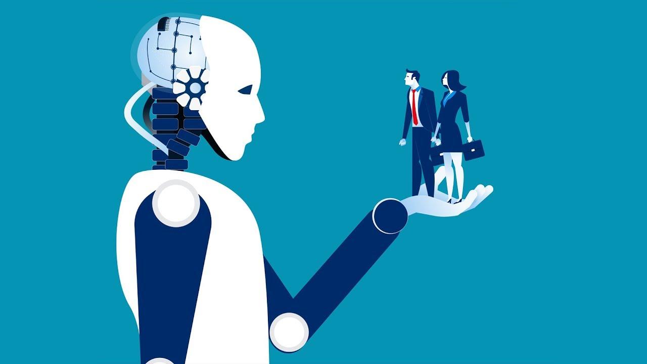 Robot holding humans