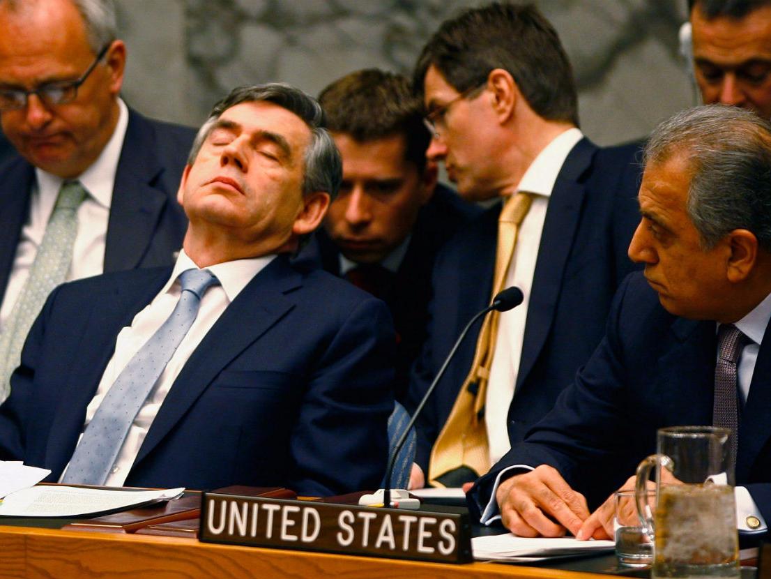 United States UN asleep