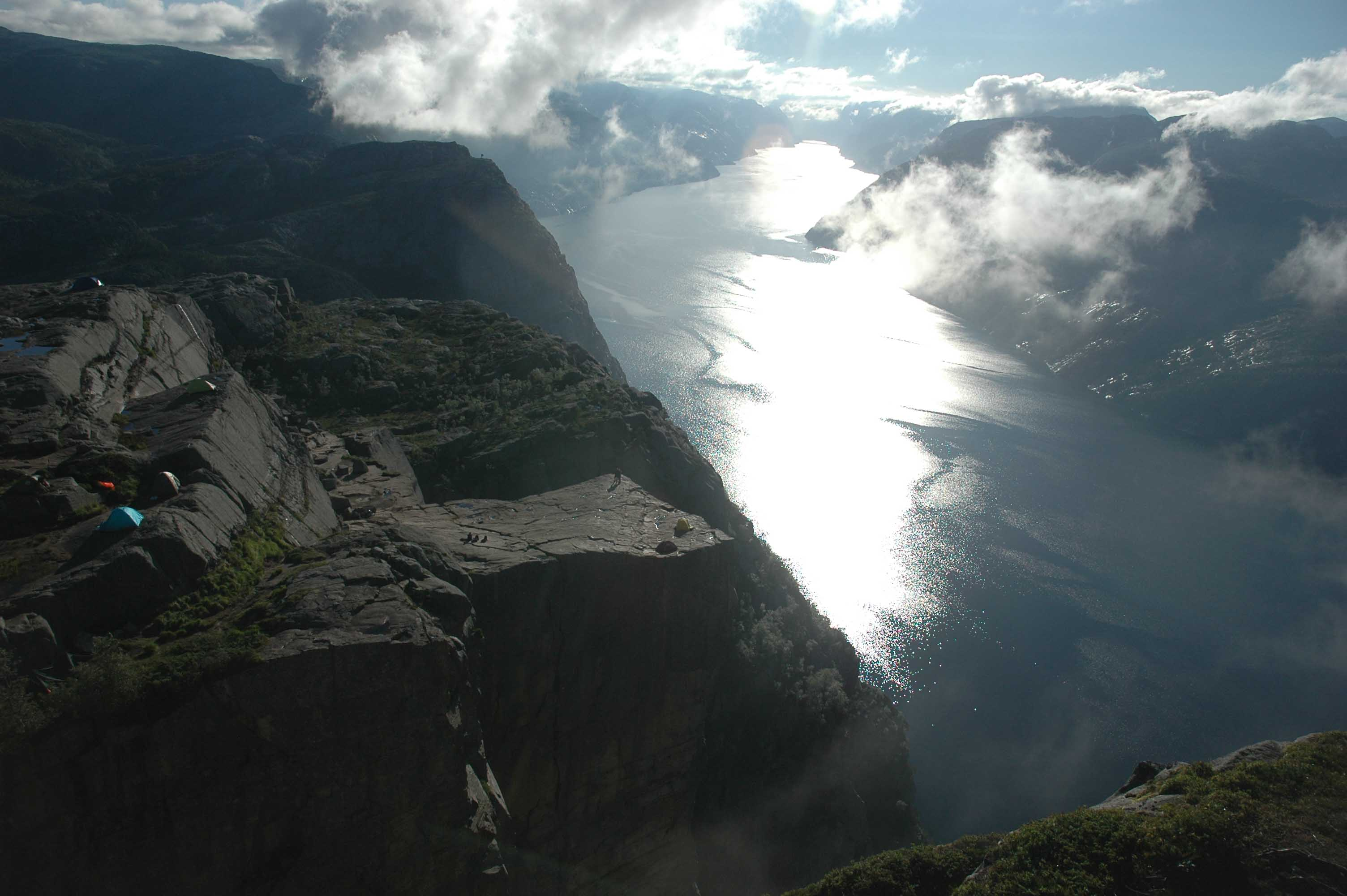 Amazing photo of Lysefjorden in Norway.