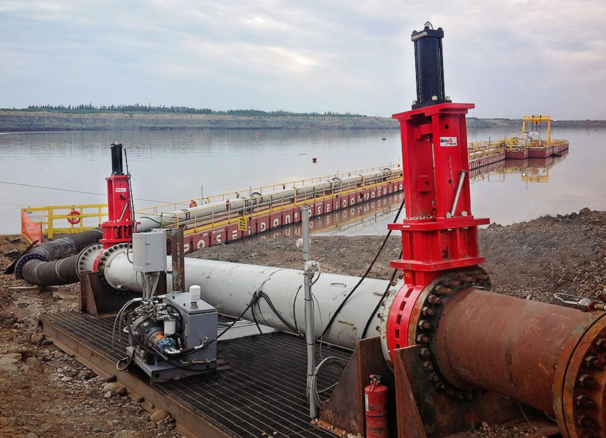 Slurryflo Control Valve used in mine tailings application