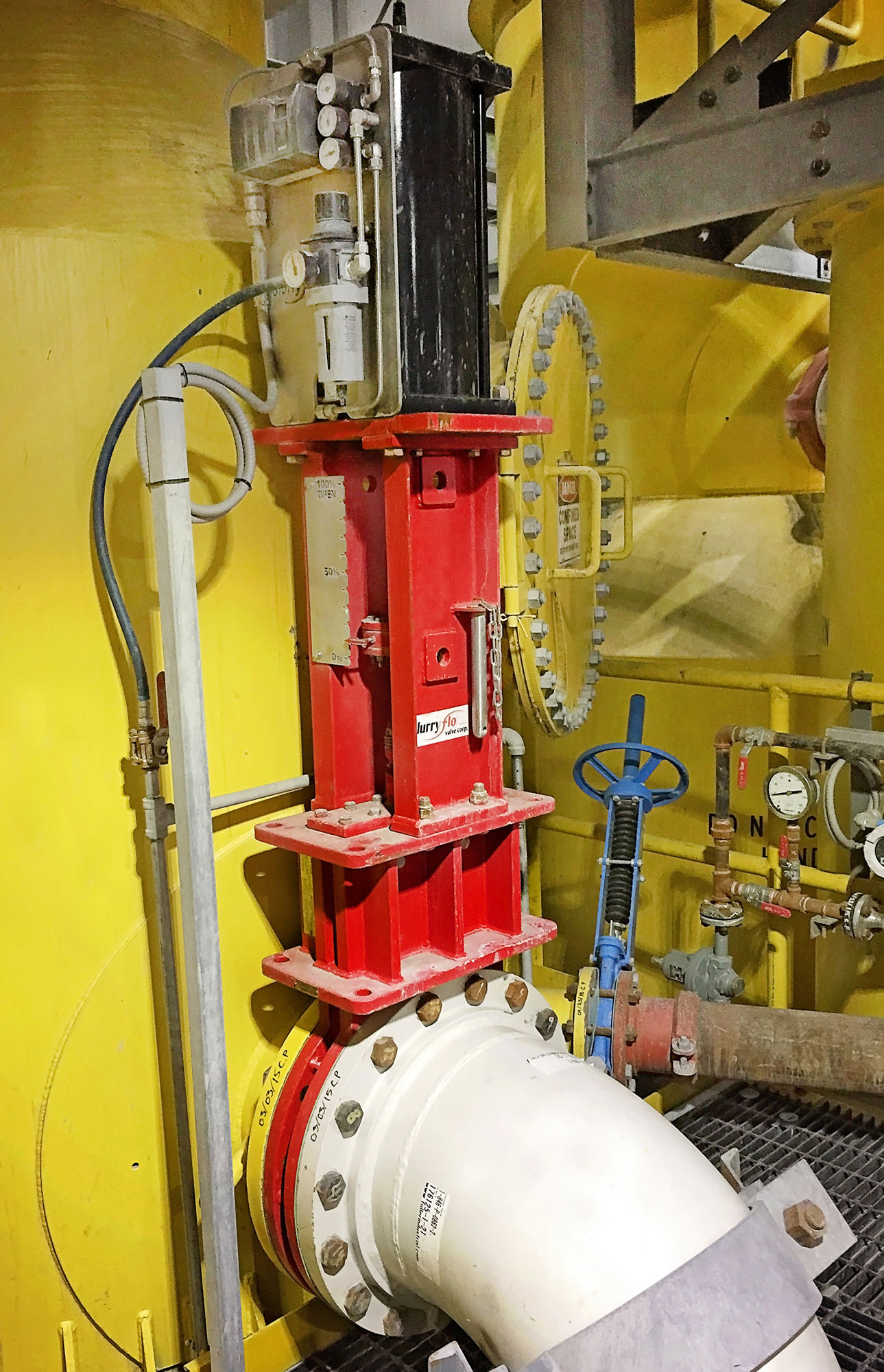 Slurryflo Control Valve used in flotation application