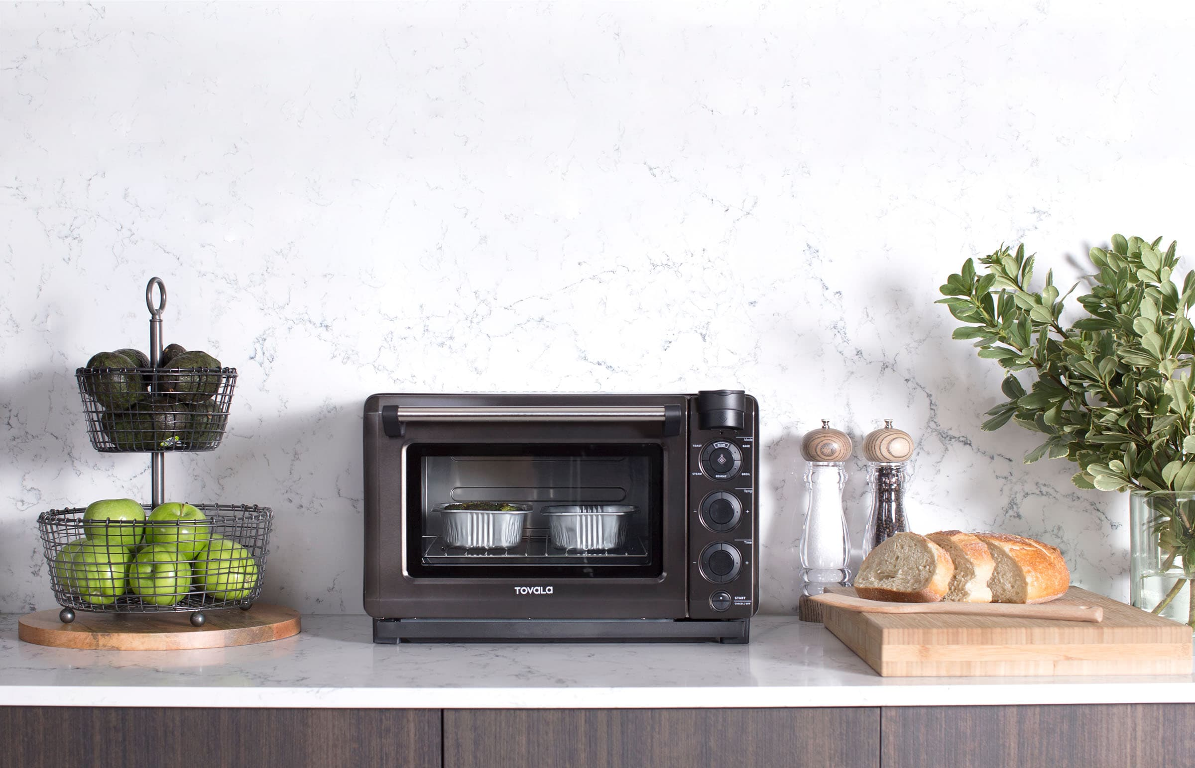 Tovala Oven on a kitchen counter.