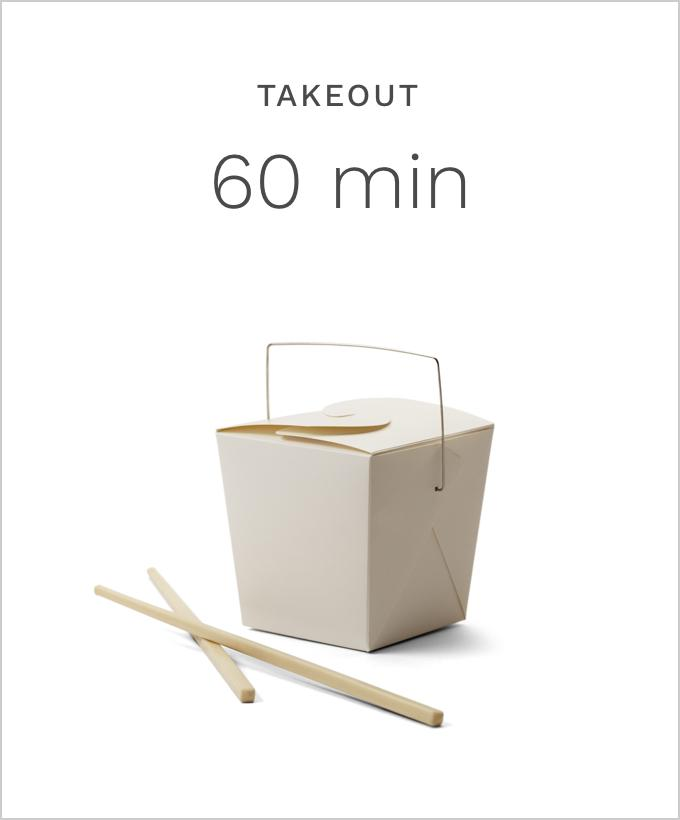 Takeout 60 minutes