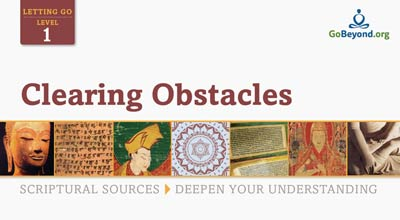 Clearing obstacle scriptural sources cover