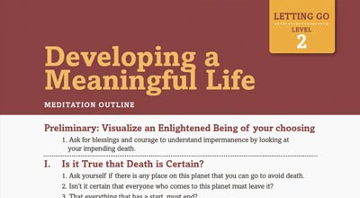 Developing a meaningful life meditation outline image