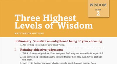 Highest levels of wisdom meditation outline image