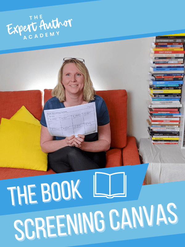 Book Screening Canvas by Book Coach Kelly Irving