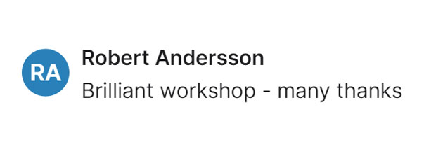 Robert Andersson Testimonial - Free Author Workshop by Book Coach Kelly Irving