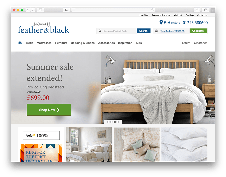 Feather Black Needed A Website That Reflected The Quality And Style Of High Value Goods They Whilst Providing An Experience Conveys Trust