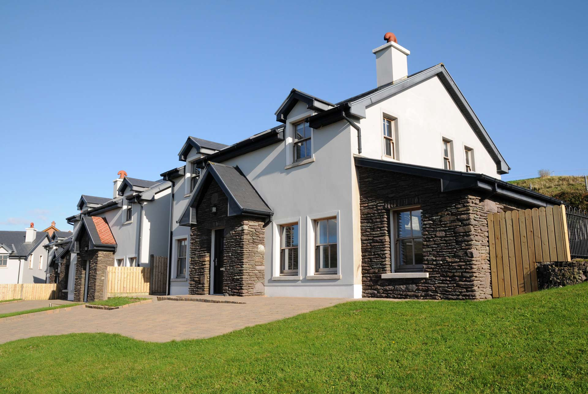 View of our large luxury self catering holiday homes for your family in Dingle Ireland