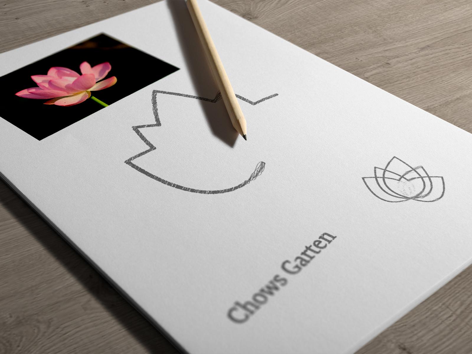 Der Designprozess eines Logos.