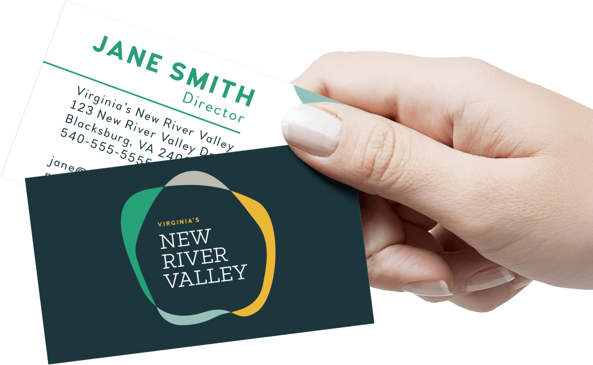 New River Valley Business Card Mock up