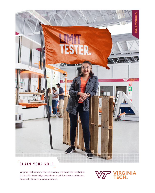 Virginia Tech Limit Tester Print Advertisement