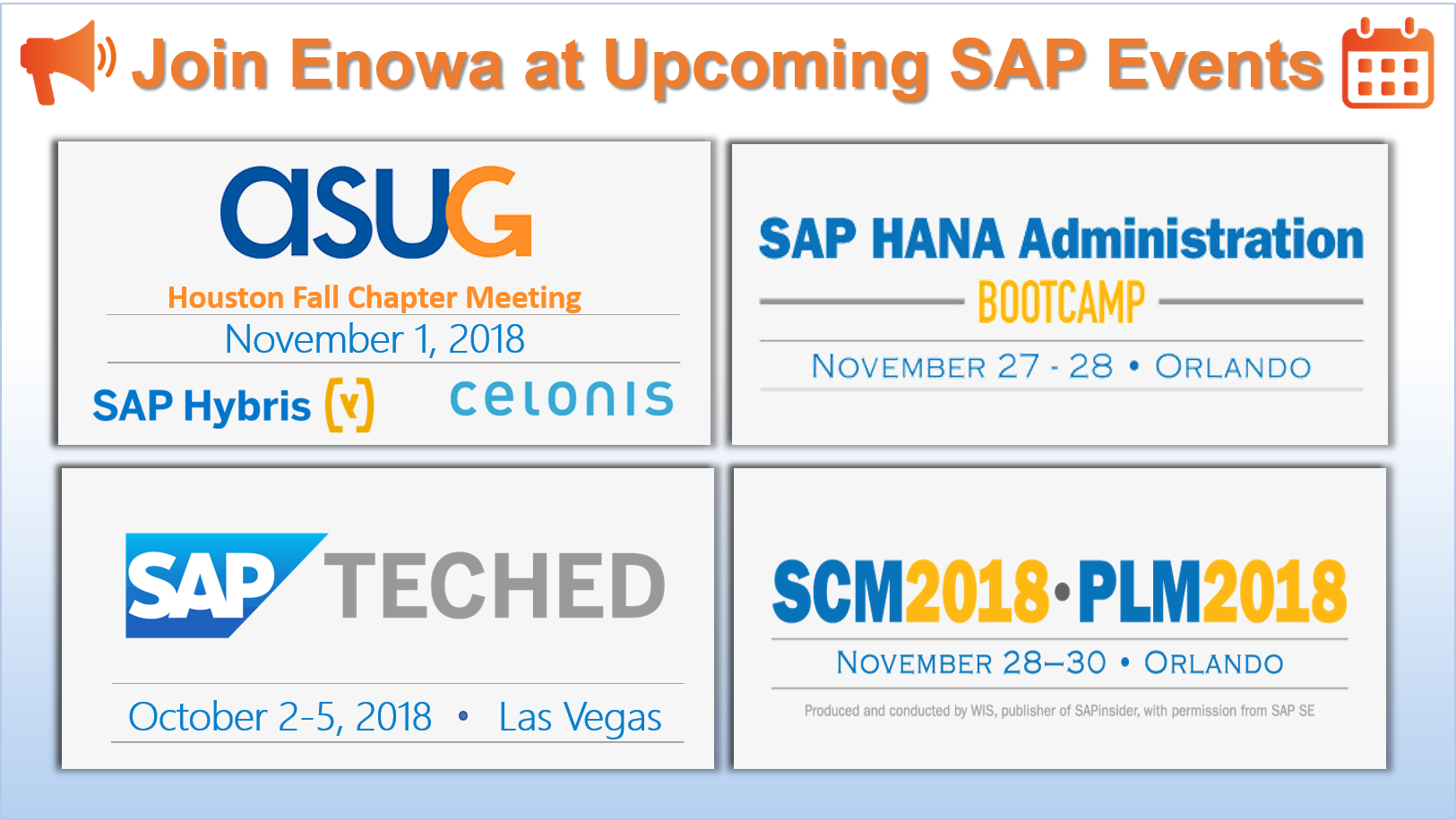 Prepare for Fall and Join Us at Upcoming SAP Events