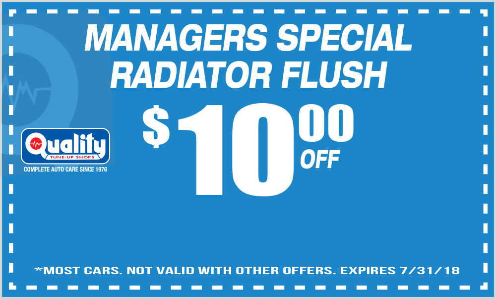 Managers Special Radiator Flush