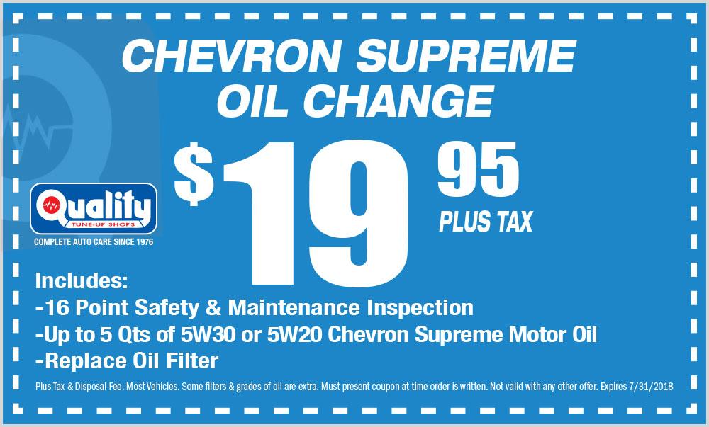 Chevron Supreme Oil Change