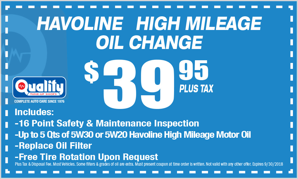Havoline High Mileage Oil Change