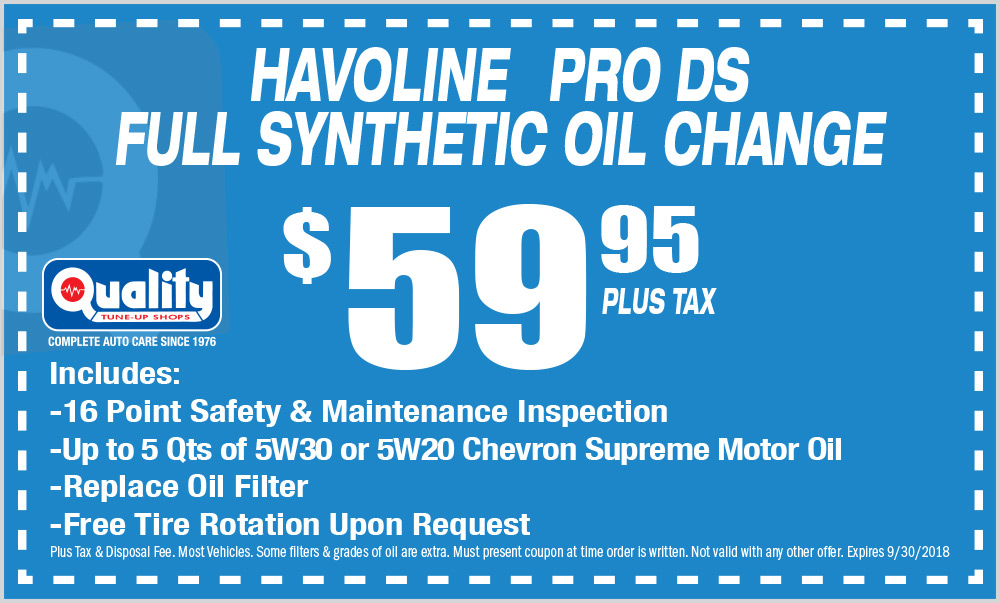 Havoline PRO DS Full Synthetic Oil Change