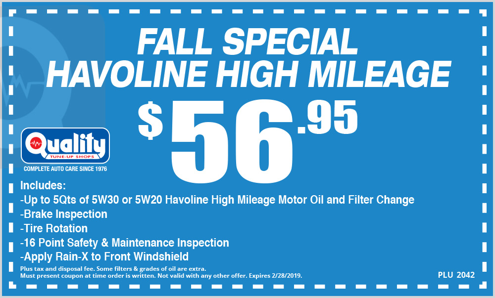 Fall Special Havoline High Mileage