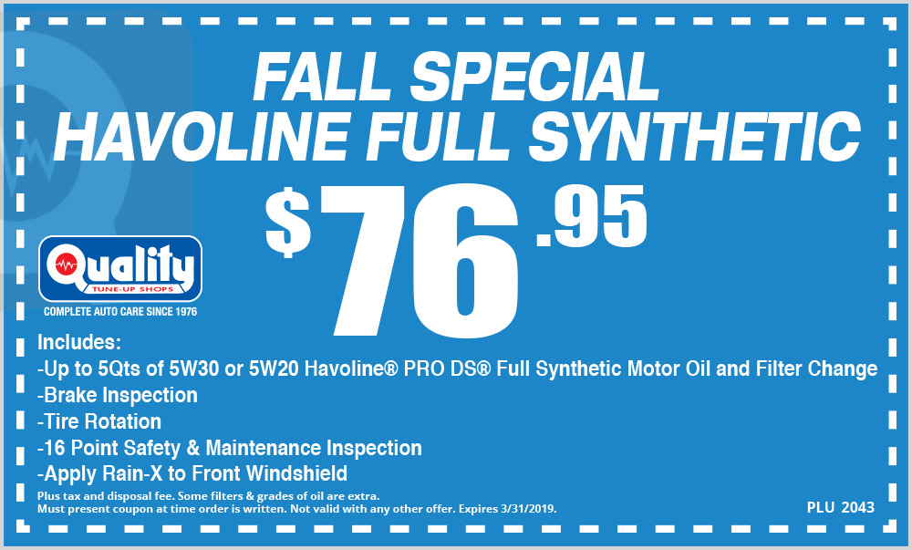 Fall Special Havoline Full Synthetic