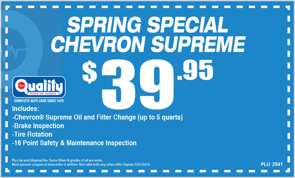 Spring Special Chevron Supreme Oil Change