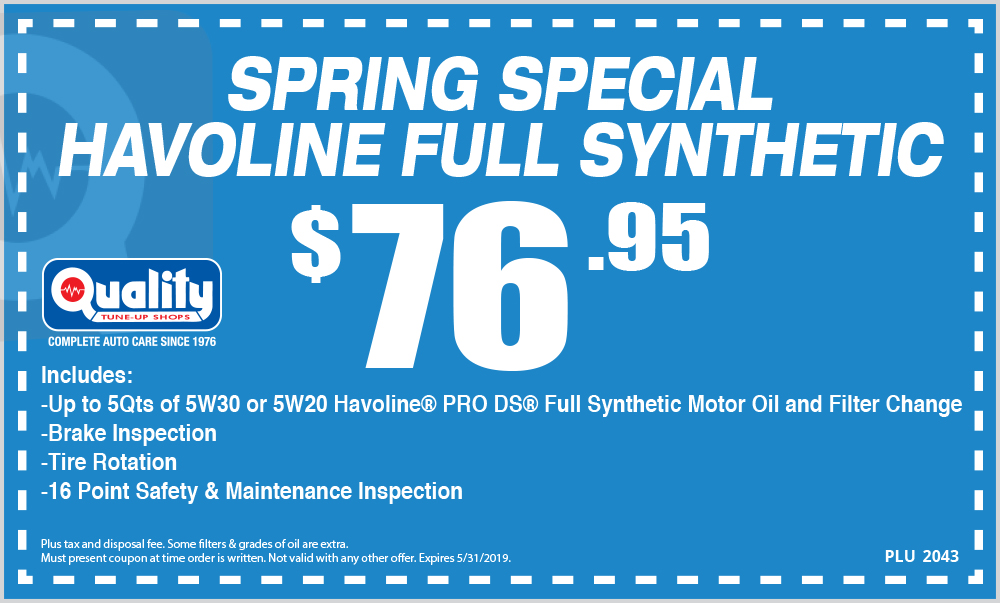 Spring Special Havoline Full Synthetic