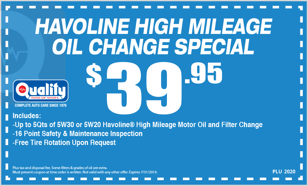 Havoline High Mileage Oil Change